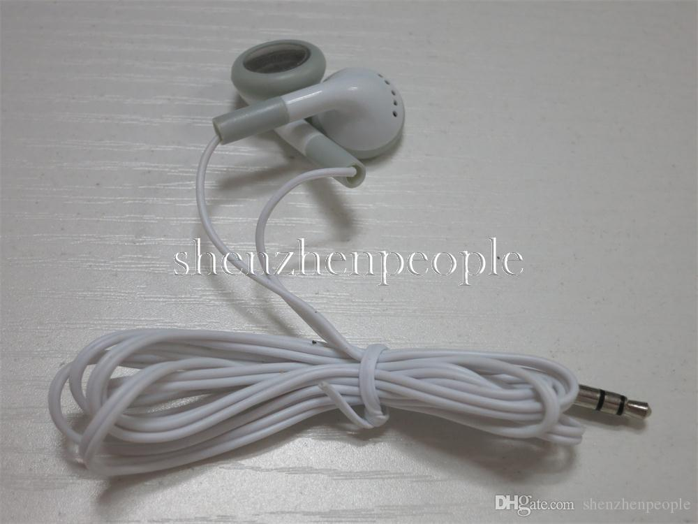 White Fashion in-ear Earphone Headphone Earbuds 3.5mm For Cell phone mobile phone Mp3 Mp4 Mini HD headset