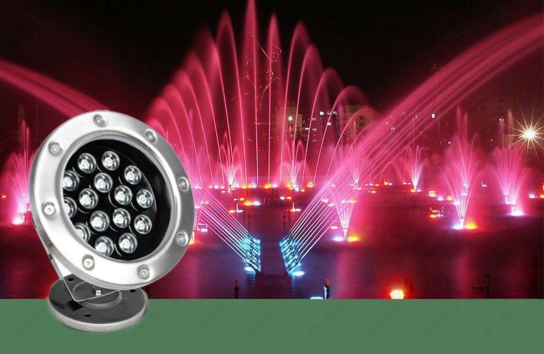 15 W DC24V CONDUZIU a Luz Submarina de Doca RGB LED Piscando Luzes de Pesca Exterior Jardim Lâmpada de Piscina Luzes