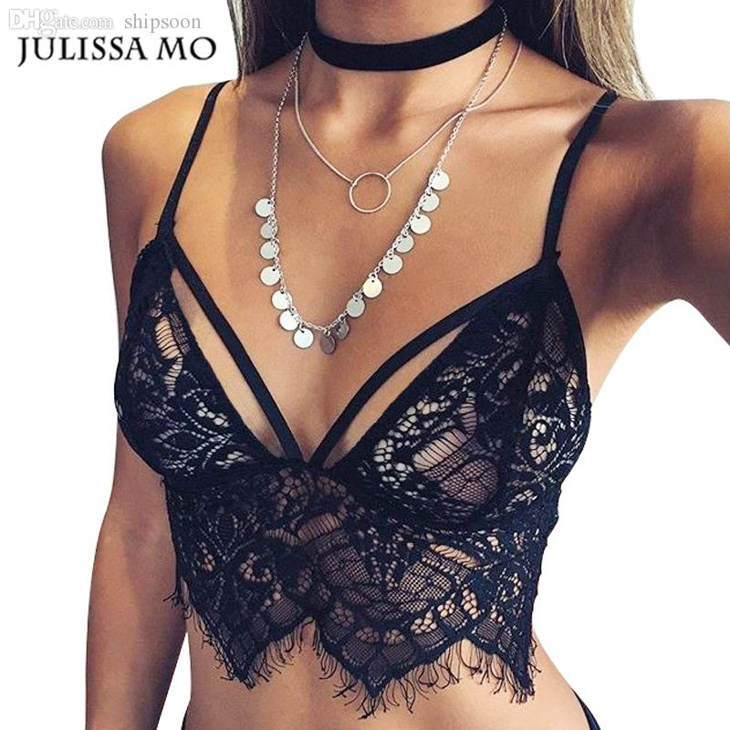 474feeeafc7 2019 Wholesale Bustier Crop Top 2016 Summer Sexy Camisoles White   Black  Bralette Bras Women Brandy Melville Short Lace Beach Tank Crop Tops From  Moussy