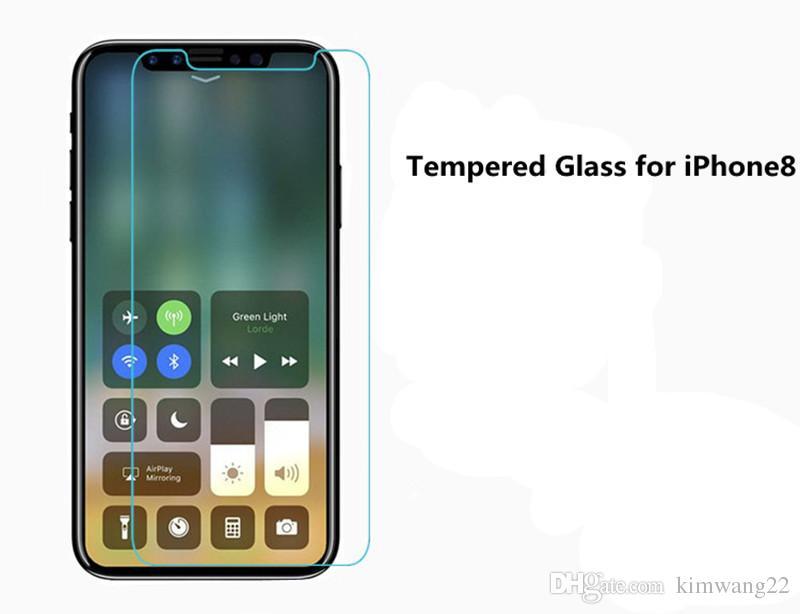 Para iphone 8 protetor de tela de vidro temperado para iphone8 iphone x edição de filme 2.5d 9 h anti-shatter pacote de papel