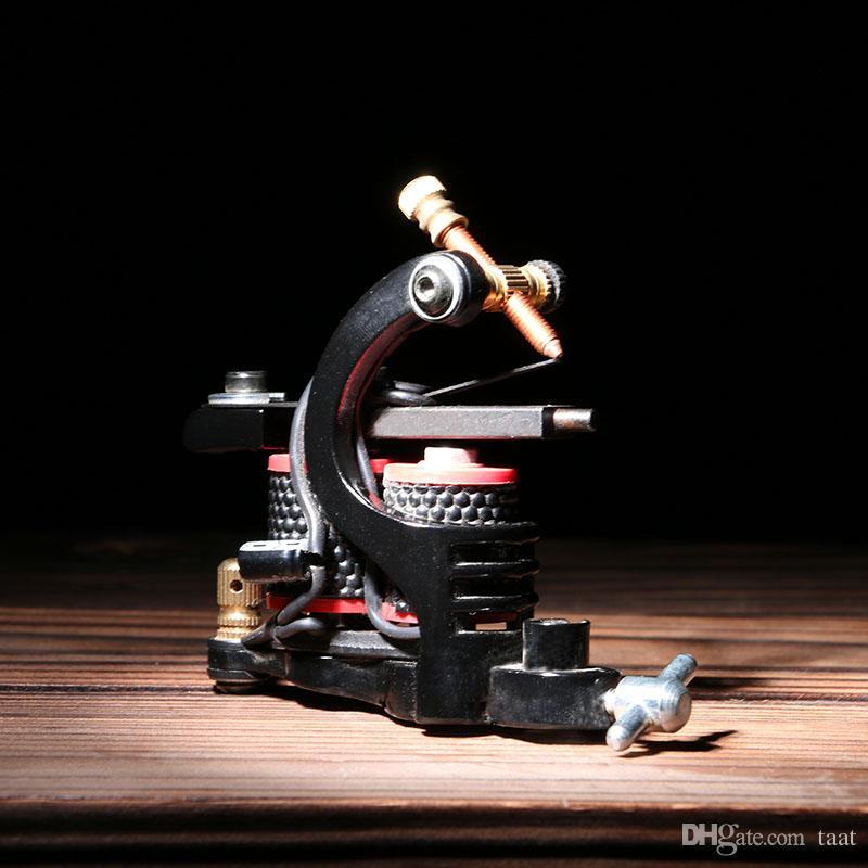 Hot Sale! New Design 10 Coils Tattoo Gun Shader Handmade Mini Cast Iron Tattoo Machine TM8344