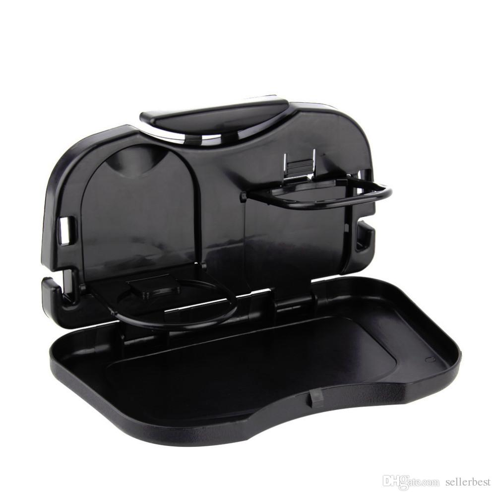 Folding Car Tray Food Car Stand Rear Seat Beverage Rack Water Drink Holder Bottle Travel Mount Accessory Foldable Meal Cup Desk Table
