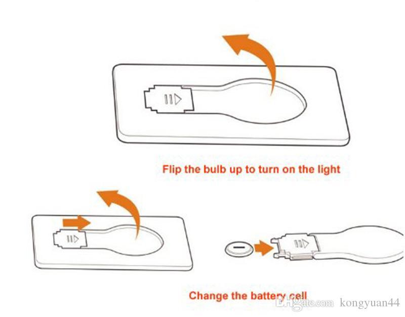 Lampa LED Light Light Light Light Lights Lighters Przenośny Mini Light Włóż na torebkę Portfel Przenośny Narzędzie Outdoor