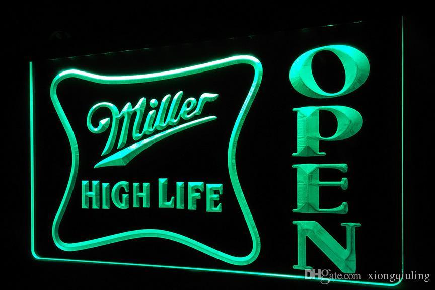 2018 ls439 g miller high life open bar neon light signg from 2018 ls439 g miller high life open bar neon light signg from xiongqiuling 1356 dhgate aloadofball Choice Image