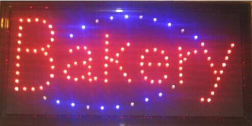 customed high quality animation/open/neon/business/store/shop/window/electronic bakery sign led billboards Wholesale
