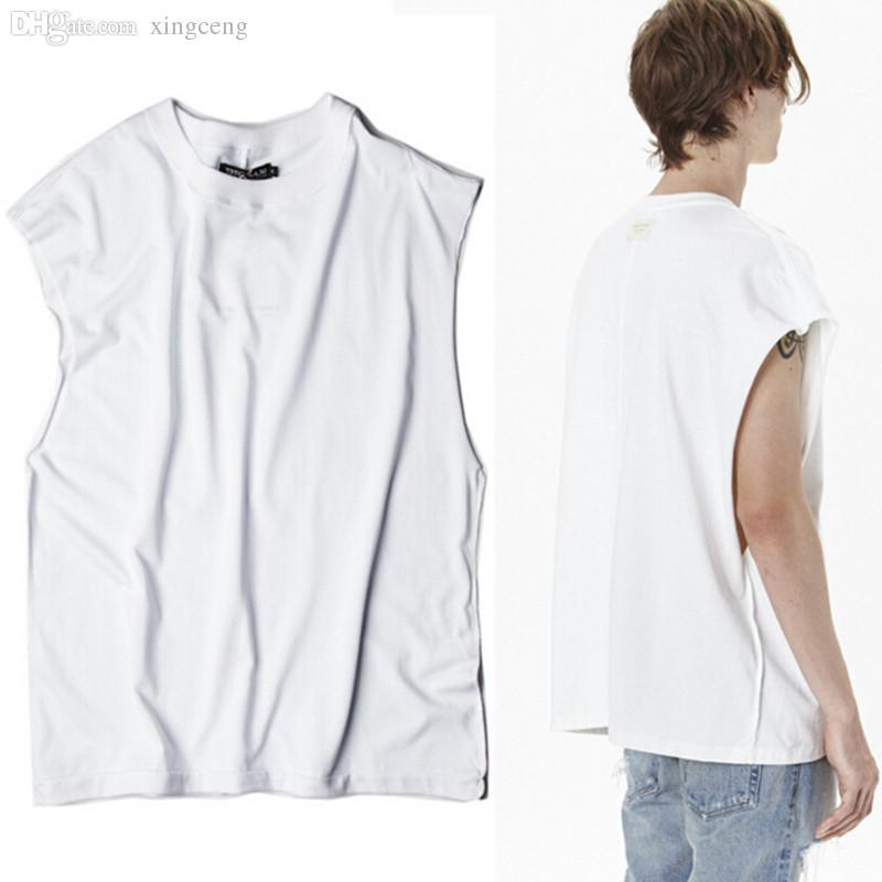 Wholesale Newest Men Oversized Hip Hop Tank Top Rock Vintage Sleeveless  Shirt Mens Sport Gym Clothing Swag Vest Singlet Debardeur Homme UK 2019  From ... d849a357d