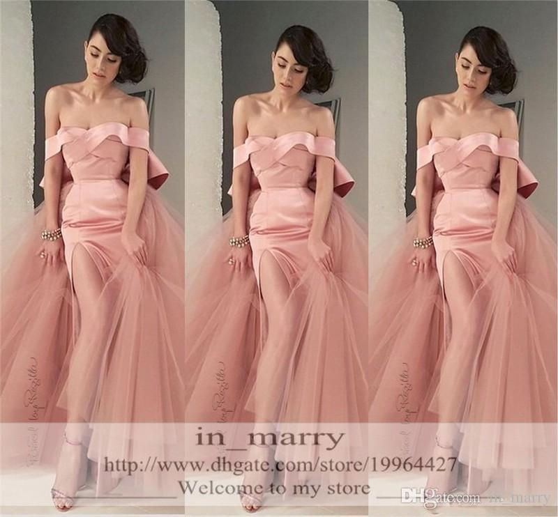 Compre Blush Rosado Atractivo De Partido Vestidos De Noche De La ...