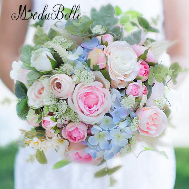 2018 Wholesale Modabelle Artificial Flower Wedding Bouquet Green ...