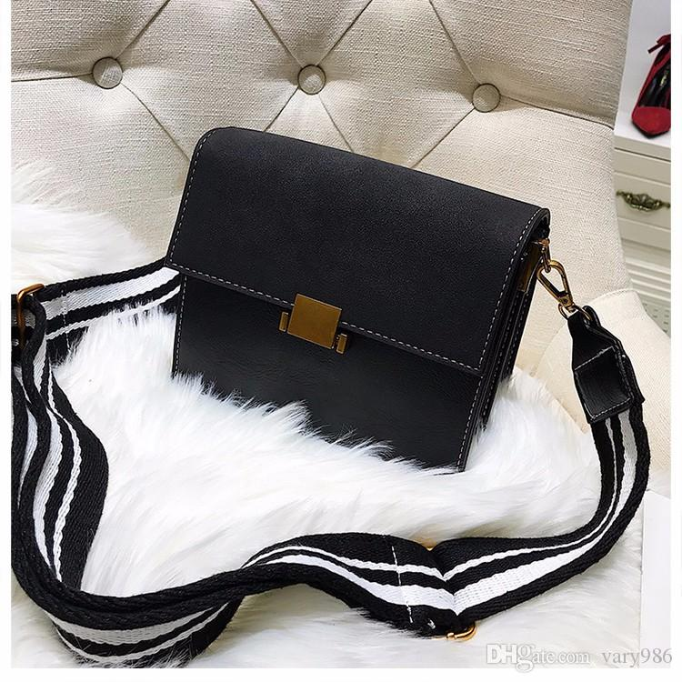 e921c07c9a Vintage Women Messenger Bag Small Leather Shoulder Bag Wide Straps Crossbody  Bags Female Small Totes Flap Bag Cheap Designer Bags Mens Shoulder Bags  From ...