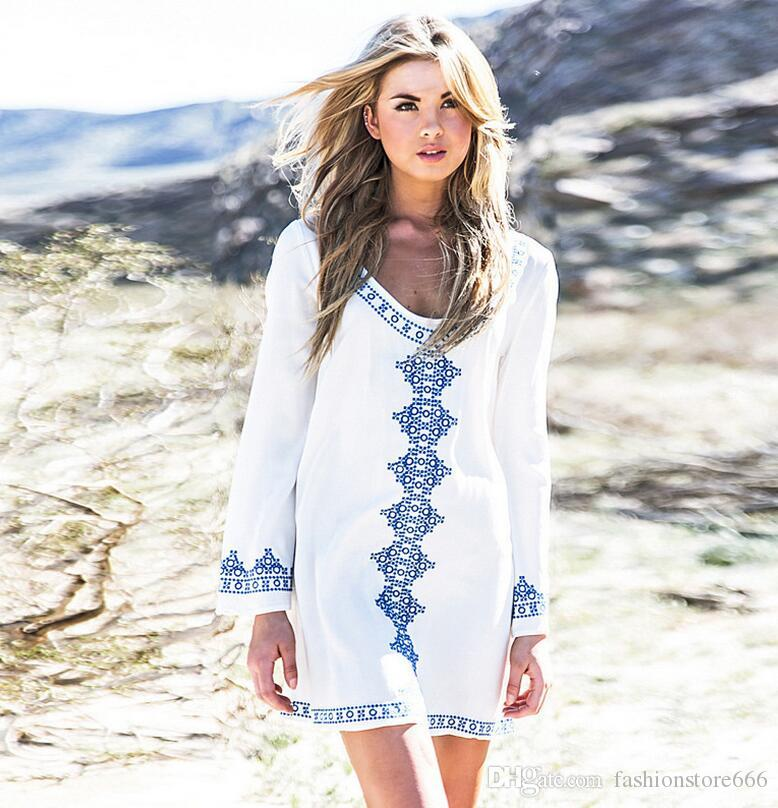 White Bohemian Summer Dress Www Pixshark Com Images