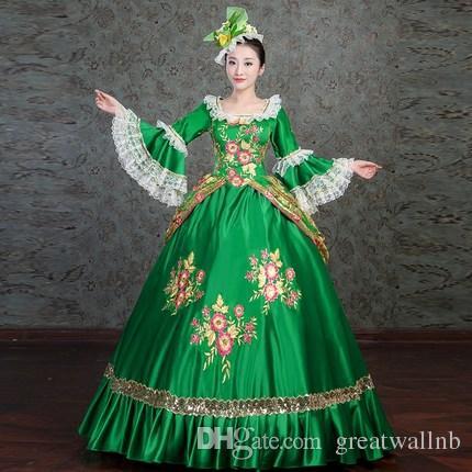 1bed2e5c475f Vera 100 Vestito Lampo Medievale D oro Di Acquista Verde Chiusura 1qIPtwx
