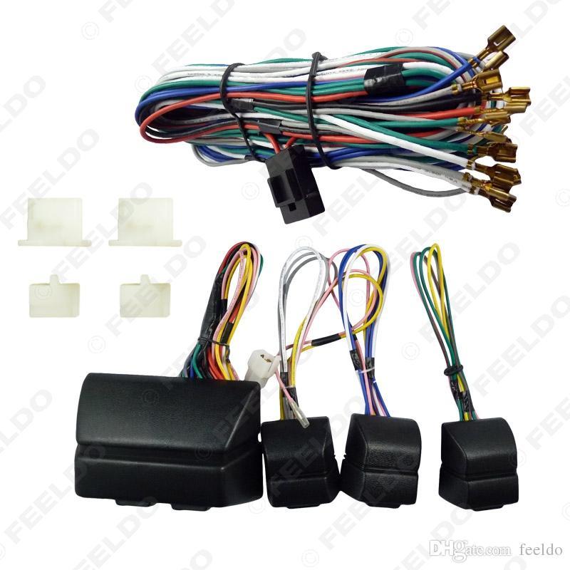 Feeldo DC12V Universal Car / Auto 4 porte Kit di finestra elettrica elettromagnetica con / set Swithit e imbracatura # 907