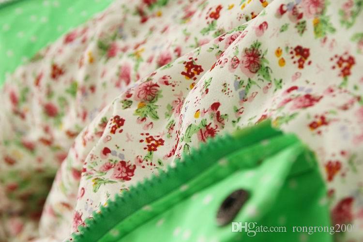 2016 Sonbahar Yeni Kız Ceket Ile Polka Dot Baykuş Graffiti Moda Ceket Kap Çocuk Giysileri 301008