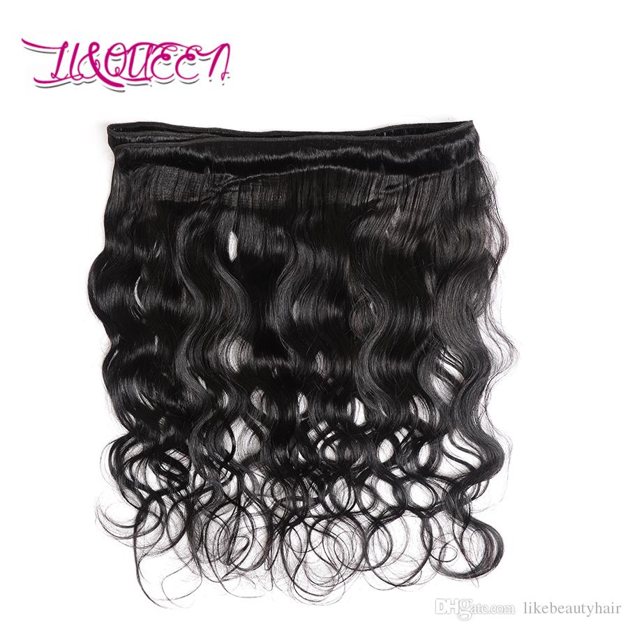 360 Lace Frontal Human Hair Body Wave 360 Frontal Closures With Bundles Unprocessed Cheap Mongolian Hair Extensions Natural black