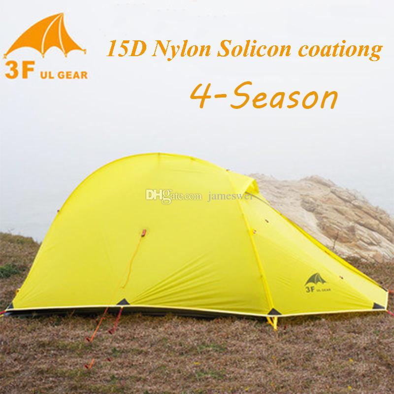 3F UL GEAR Outdoor Ultralight C&ing Tent 15D Silicone Nylon Waterproof Winterized Tents C&ing Fishing Hunting Tenda Outdoor Tent 4 Season Tent Online ... & 3F UL GEAR Outdoor Ultralight Camping Tent 15D Silicone Nylon ...