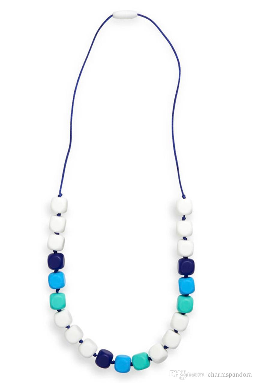 fiddle twiddle beads Teething necklace sensory chew baby wearing autism BPAfree