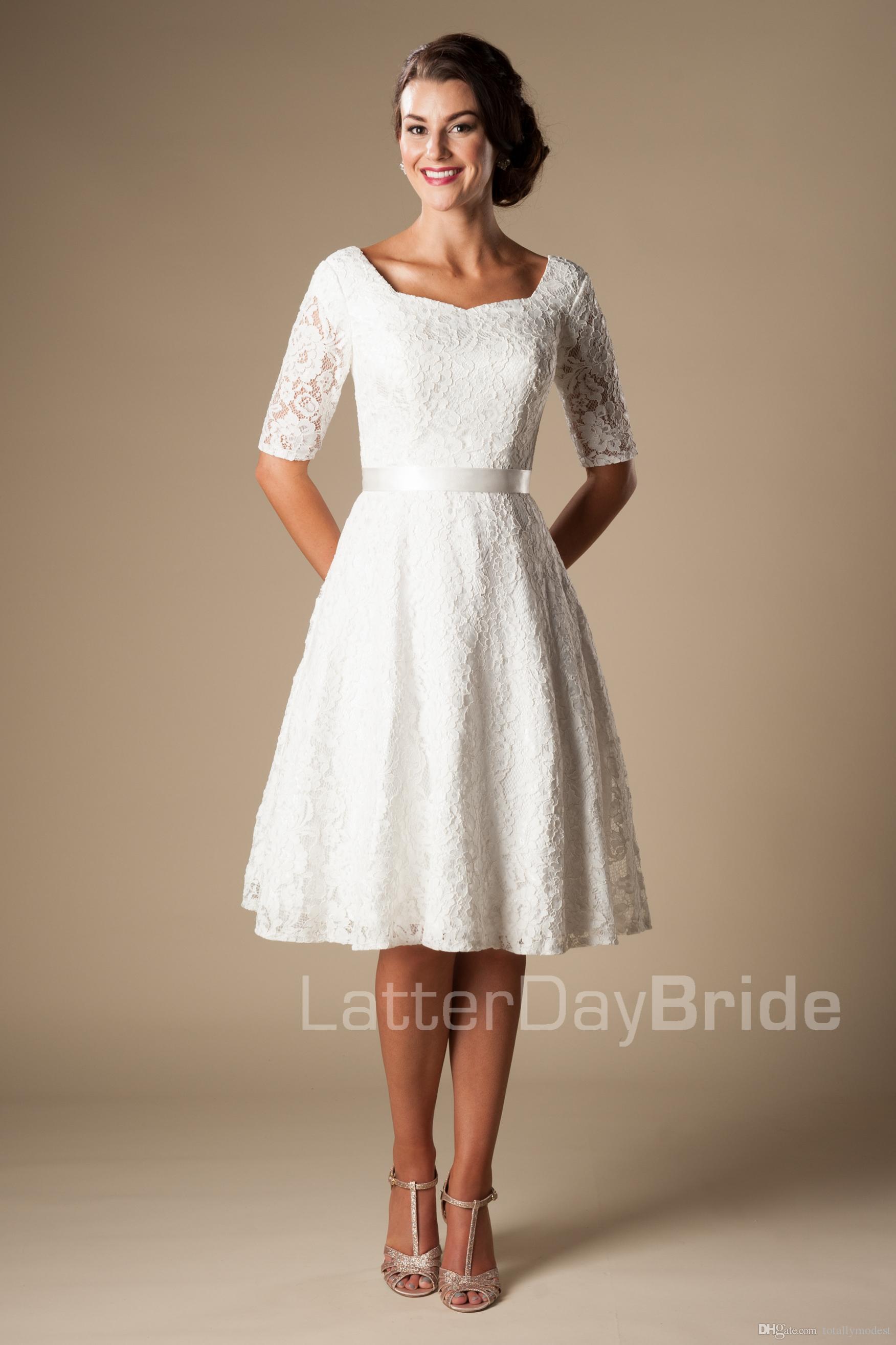 Modest Wedding Dress Rehearsal