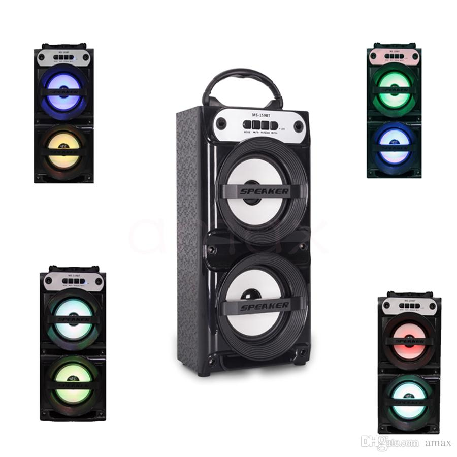 Ms 159bt Multi Led Big Speaker Portable With Usb Tf Aux Fm Radio ...