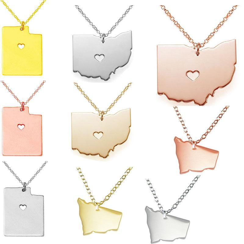 Wholesale utah state ohio state australia map necklace charm wholesale utah state ohio state australia map necklace charm pendant necklaces with a heart statement necklace jewelry cheap pendant necklaces pendants aloadofball Images