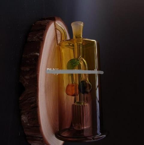 Tubos de cristal del envío libre Vidrio del burbujeador Vidrio Vidrio plataforma petrolera Bongs de cristal cereza J46-10mm