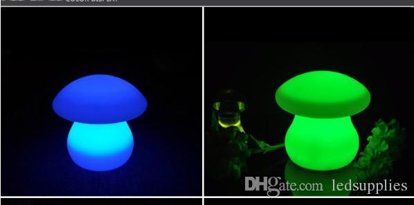 LED большой гриб настольная лампа световой лампы барная стойка персонализированный заряда настольная лампа heterochrosis шику пульт дистанционного управления