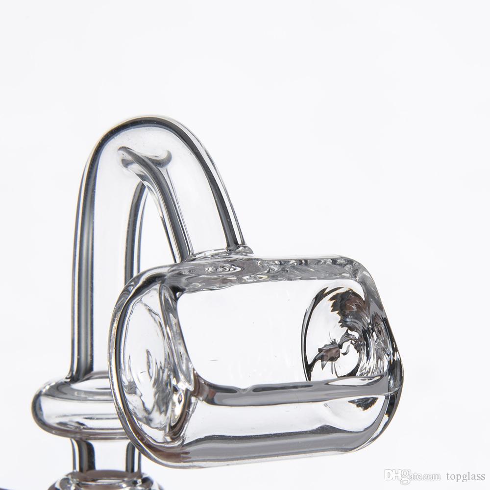 Billig, aber hohe Qualität Bulldozer Stil Trough Quartz Banger Domeless Quartz Nagel 14mm 19mm Männlich Weiblich Frosted für Glas Wasserleitungen
