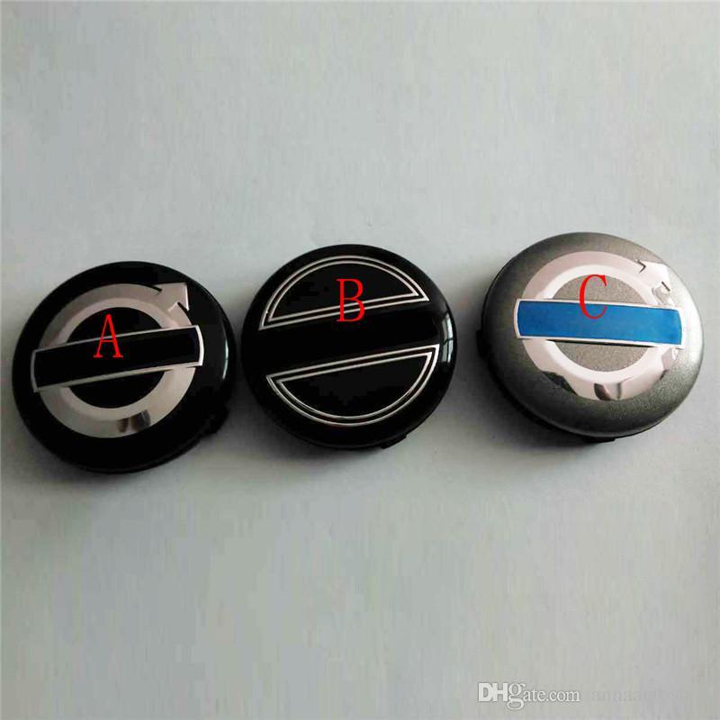 Auto Styling Hochwertige Wasserdichte Auto Radnabe Felgenmitte Kappen für Volvo 64mm ABS Auto Radmitte Radkappen