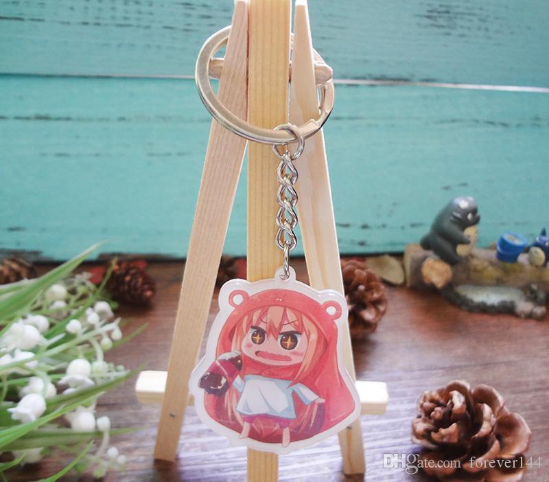 Personalidade Anime Japão Himouto umaru-chan figura pingente Doma Umaru anime menina cosplay Doubleside chaveiros Portachiavi