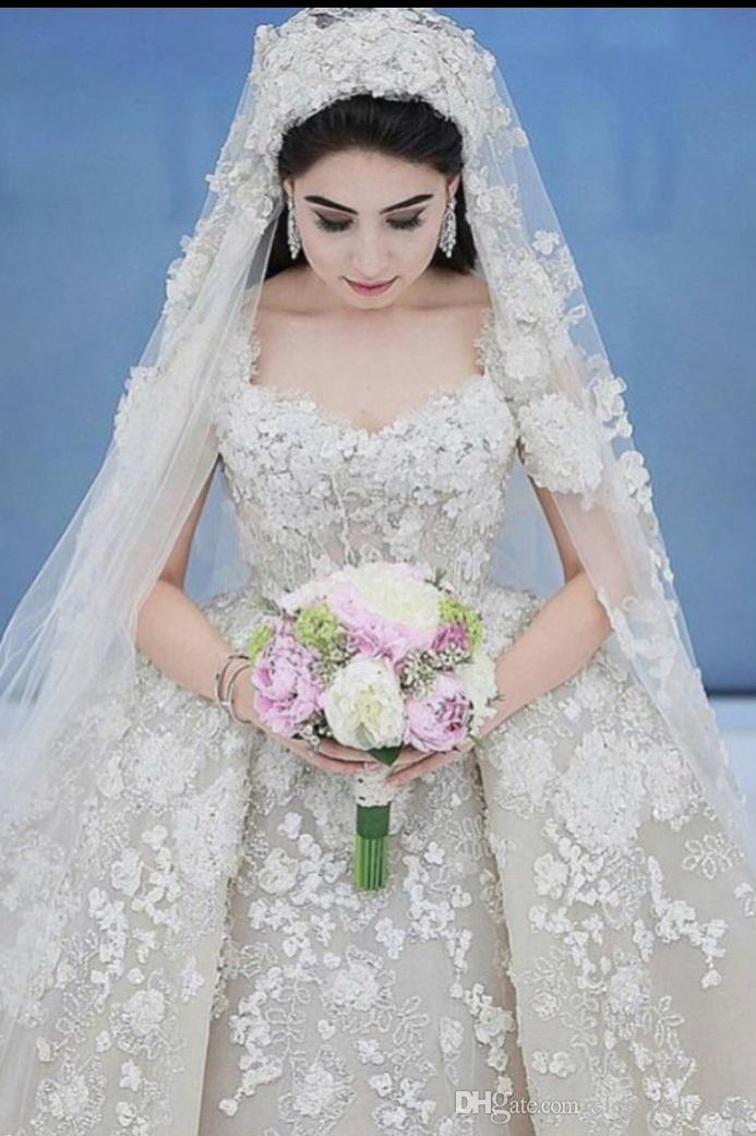 2021 Più nuovo elegante Bianco Tulle in pizzo Applique Sweetheart Ball Gown Vintage Plus Size Abiti da sposa Abiti da sposa Bridal Gowns