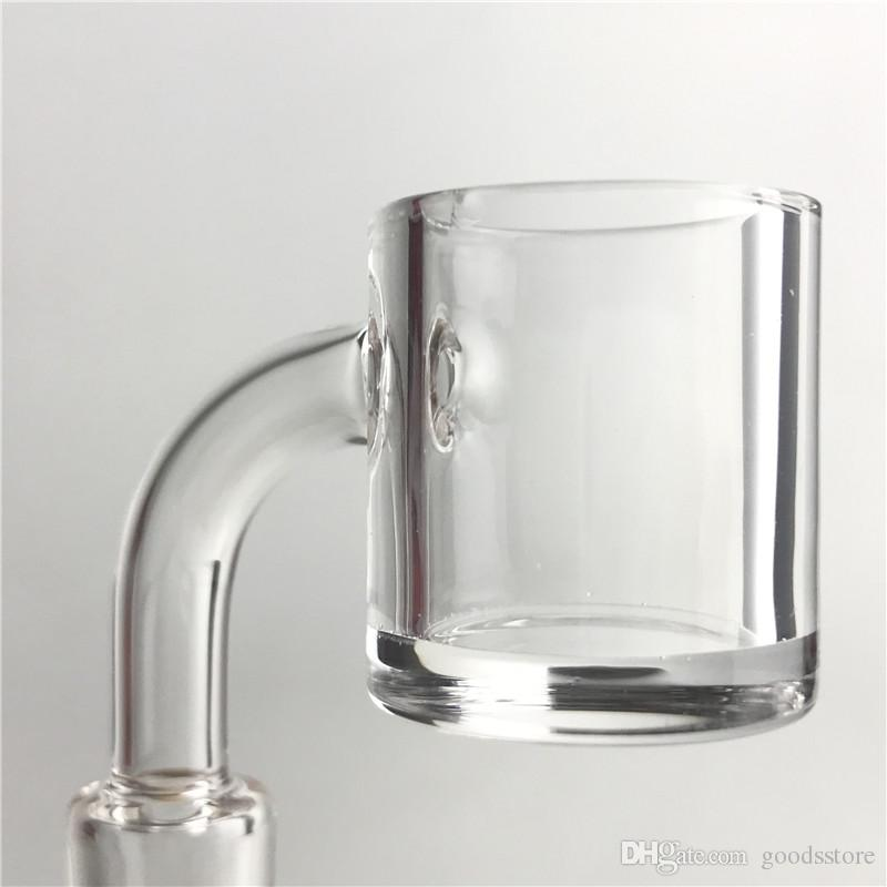 3mm Thick XL Quartz Banger Flat Top 4mm Bottom Domeless Nail Water Pipes with 25mm XL Honey Bucket 10mm 14mm Glass Pipes