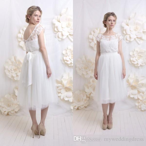 discount 2016 vintage country wedding dresses informal tea