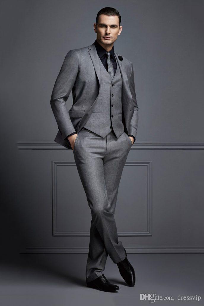 High Quality Wedding Suits For Men Groom Tuxedos Groomsmen Best Man Mens Wedding Suits Bridegroom Jacket+Pants+Vest+Tie Jackets