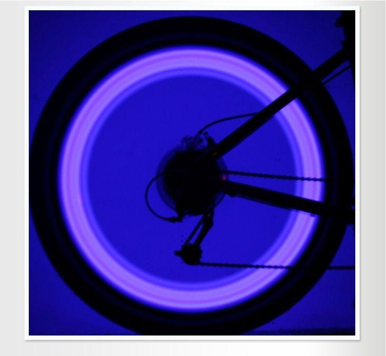 Venda quente 4 cor da bicicleta bicicleta ciclismo falou fio do pneu roda do pneu levou lâmpada de luz brilhante