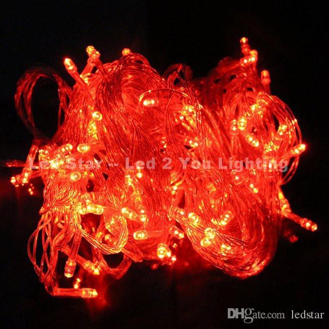 AC 110V / 220V 10m LED 스트링 조명 100LEDs 멋진 볼 조명 장식 크리스마스 파티 축제 반짝 문자열 램프 환
