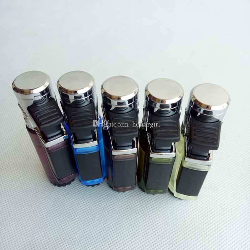 Jobon gás à prova de vento cigarro butano isqueiro 5 cores também oferecem usb tocha jet isqueiro Recarregável Óleo Sem Chama Mais Leve
