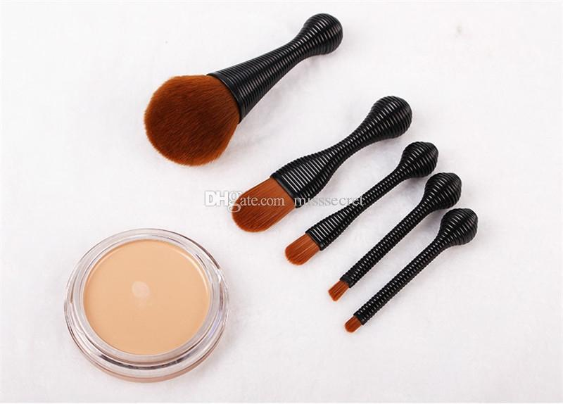 Lollipop Blending Makeup Brushes Set Foundation Makup Brush Powder Blush Contour Eyeshadow Cosmetic Brushes Tool Kit With Cystal Box