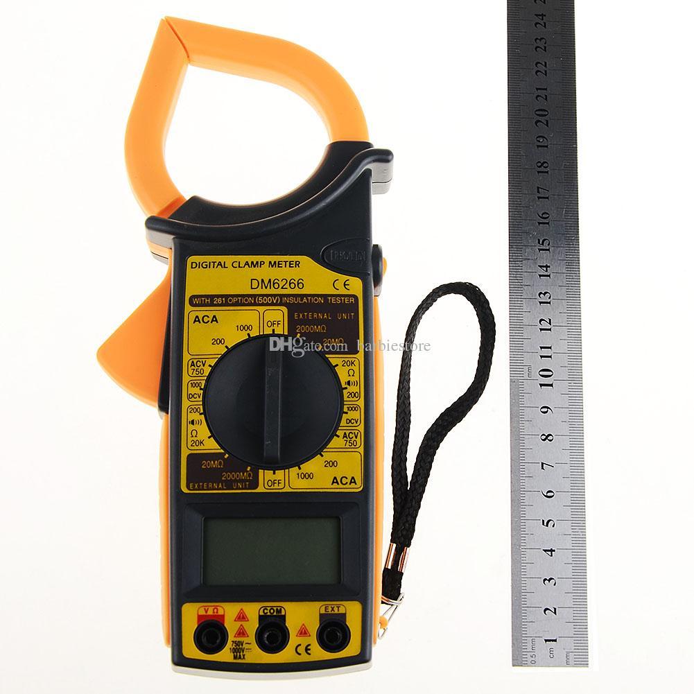DM6266 Digital Multimeter Clamp Meter Ammeter Voltmeter Ohm Insulation Test B00352