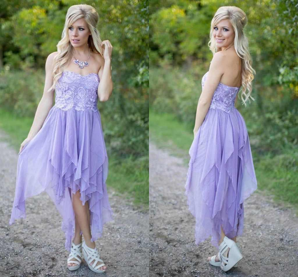 2016 cheap short beach high low bridesmaid dresses lavender lilac 2016 cheap short beach high low bridesmaid dresses lavender lilac lace sweetheart beach wedding guest gowns chiffon bridesmaids party dress one shoulder ombrellifo Images