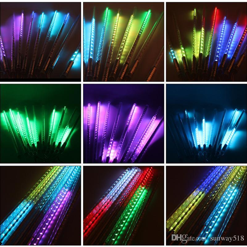 led christmas xmas lights 30cm 50cm 80cm snowfall tube meteor shower rain tube led string light christmas lights outdoor string lantern lights butterfly