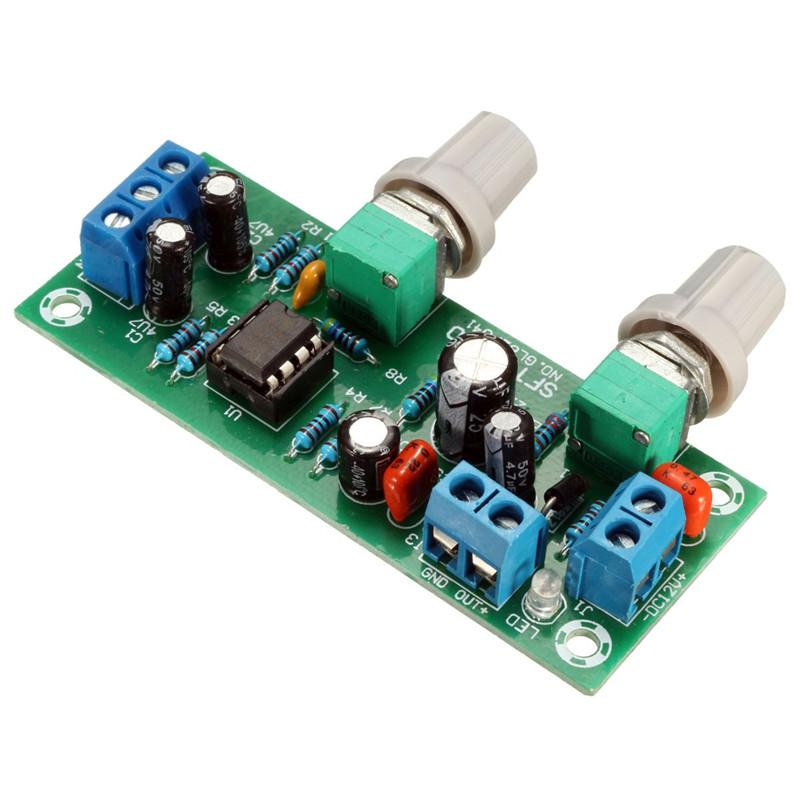 Freeshipping 3pcs \ Lot Neue DC 12V-24V Tiefpassfilter NE5532 Subwoofer Prozess Vorverstärker Preamp Board
