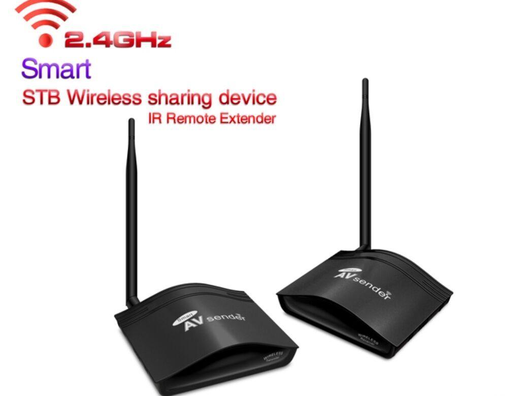 PAT226 2.4 GHz 350 m AV RCA Ses Video Gönderen Kablosuz Video Verici Alıcı Almak STB kablosuz paylaşım cihazı IR uzaktan Kamera uzatın
