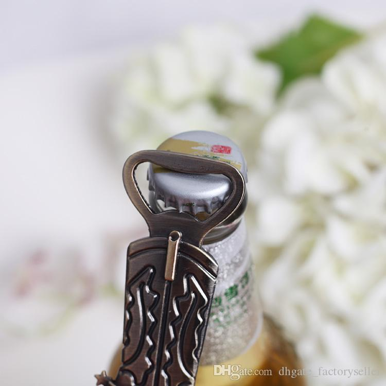 Retro Bronze Boots Shoes Beer Bottle Opener Kitchen Craft Durable Cooking Tools Wedding Gift Cowboy Boots