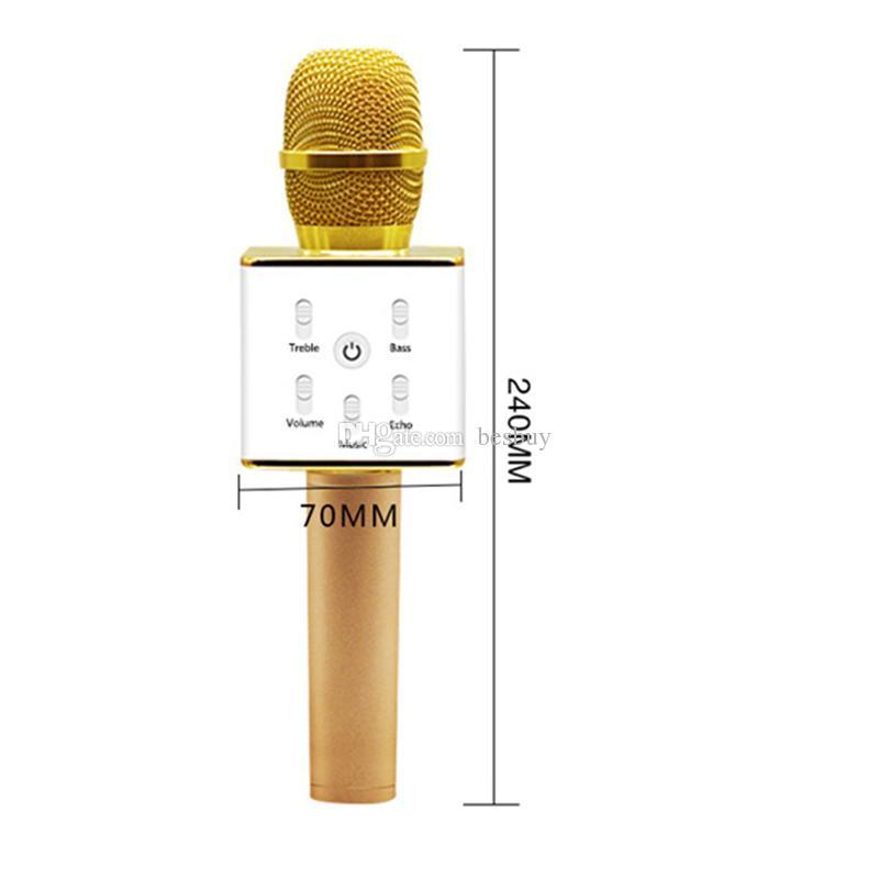 Q7 Handheld Microphone Bluetooth Wireless KTV With Speaker Mic Microfono Handheld For Smartphone Portable Karaoke Player 0802218