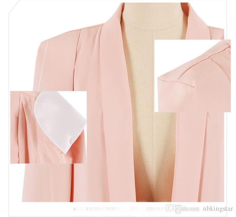 Manga longa Capes E Ponchoes Casaco Para As Mulheres Casaco Blazer Capa Moda Outono Estilo Britânico Escritório Terno Jaqueta