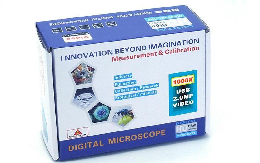 DHL UPS Fábrica al por mayor más nueva 500X, 800X, 1000X USB Microscopio Digital + 8-LED Endoscopio con Software de medición microscopio usb