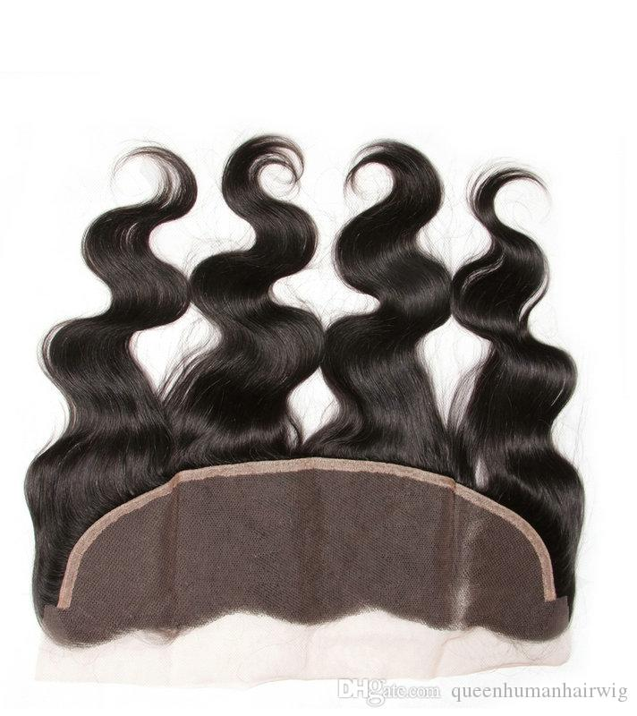 Davi Queen Grace Brazilian Body Wave 13x4 Ear To Ear Pre Plucked Lace Frontal Closure Toupee With Baby Hair Virgin Remy Human Hair