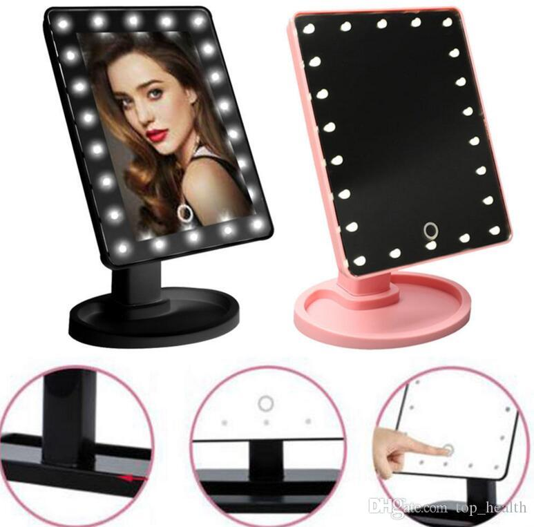 Beauty & Health Mirrors 16 Leds Lighted Makeup Mirror With Light Lamp Portable Touch Screen Cosmetic Mirror Beauty Desktop Vanity Table Stand Mirrors Selling Well All Over The World