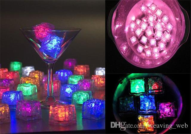 Halloween Flash Ice Cube Water-Actived Flash Led Light High Quality Put Into Water Drink Flash Automatically for Party Wedding 1