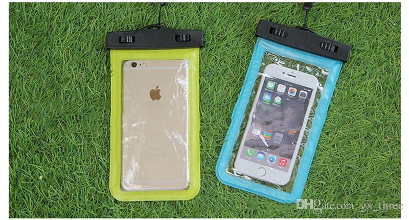 Universal For iphone 7 6s plus samsung PVC Waterproof Case bag phone Dry Pouch for smart phone up to 5.8 inch diagonal