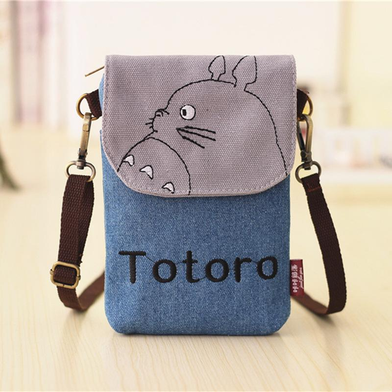 7fea8270b2 Wholesale- Fashion Women Mini Mobile Cell Phone Shoulder Bag Ladies Totoro  Waterproof Girls Cartoon Canvas Crossbody Messenger Pouch YK027 Pouch  Boxers ...
